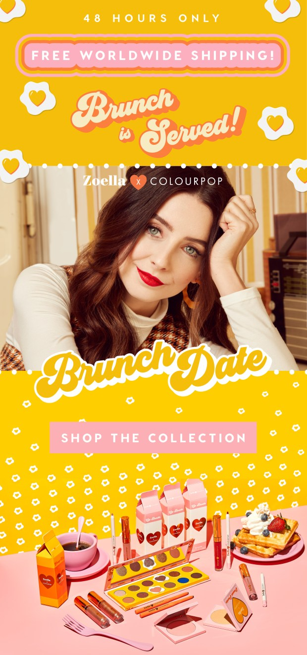 ColourPop Cosmetics Canada Free Worldwide Shipping Free Canadian Shipping Ships to Canada for Free New Brunch Date Collection - Glossense