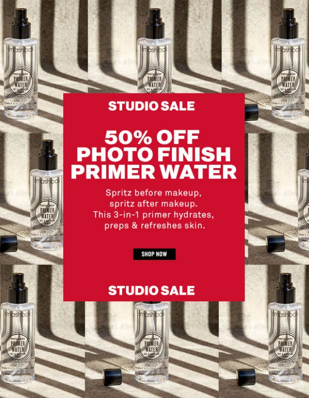 Smashbox Cosmetics Canada Canadian Deals Studio Sale Half Off Photo Finish Primer Water - Glossense