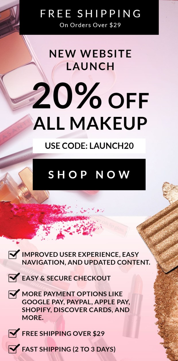 Vasanti Cosmetics Canada Canadian Deals Promo Codes Coupon Code Offer Discount Savings Save 20 Percent Sale Makeup Skincare - Glossense