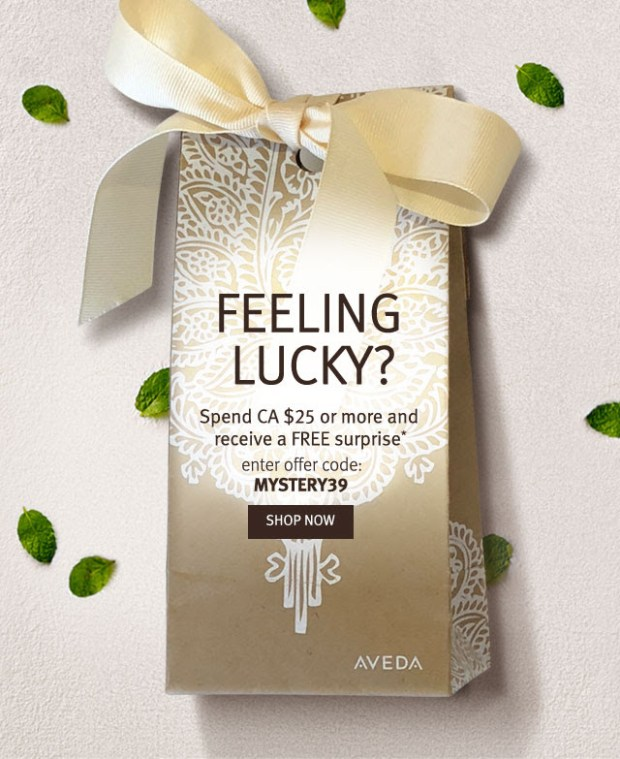 Aveda Canada Promo Code Beauty Offer Spend $25 Get a Free Hand Relief Moisturizing Creme Deluxe Mini Sample Surprise Gift St. Patrick's Day 2019 Canadian GWP Freebies - Glossense