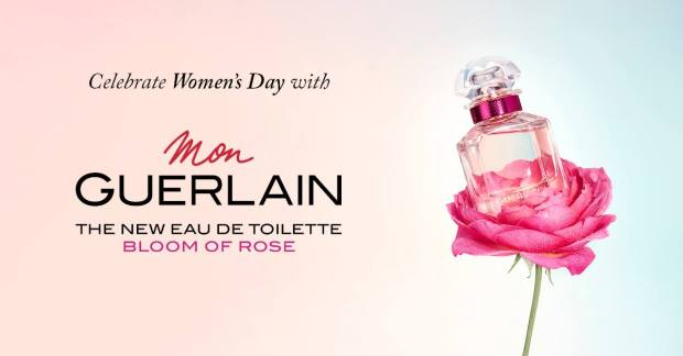 Guerlain Canada International Women's Day Canadian Event Toronto Ontario Free Perfume Mini with Purchase Bloom of Rose March 8 2019 - Glossense
