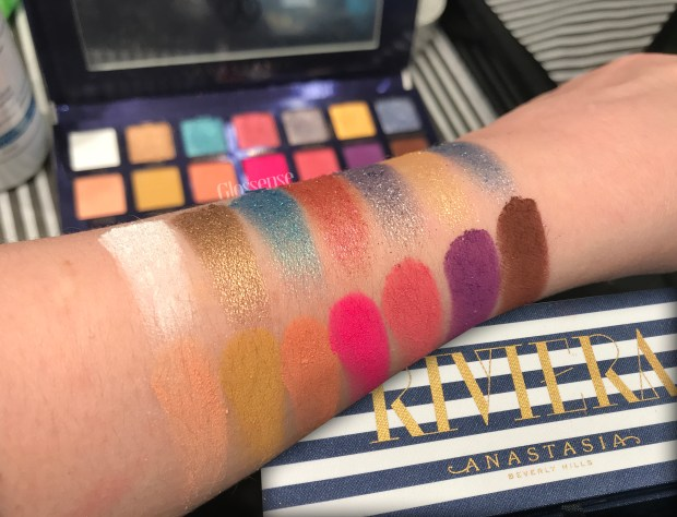 Sephora Canada Anastasia Beverly Hills Canada When does New ABH Riviera Eyeshadow Palette Launch at Sephora Online Canadian Stores Shadow Swatches - Glossense