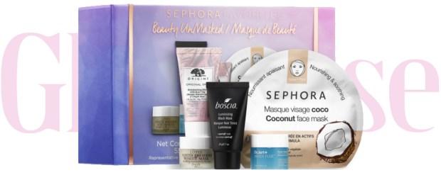 Sephora Canada Favorites Set Kit Canadian Favourites Favorite Favourite Beauty Unmasked Face Mask Set Facials Facial Skin Care Skincare Collection - Glossense