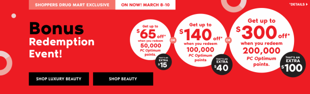 Shoppers Drug Mart Beauty Boutique SDM Canada Super Spend Your Canadian PC Optimum Points Redemption Event March 8 10 2019 - Glossense