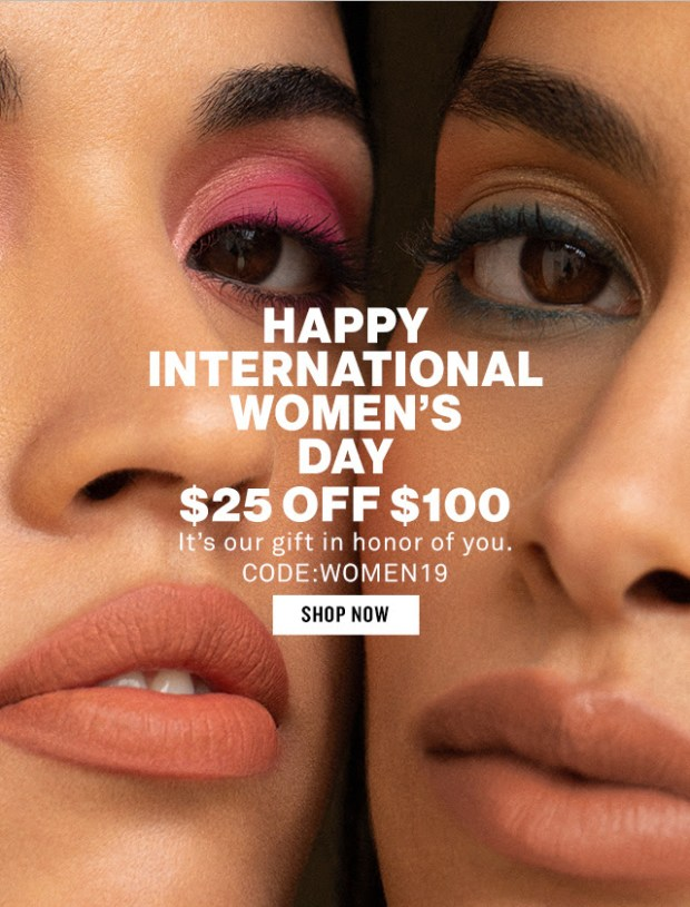 Smashbox Cosmetics Canada International Women's Day IWD2019 Canadian Deals Save 25 Off 100 Purchase Promo Code Coupon Code Offer March 8 2019 Free Shipping - Glossense