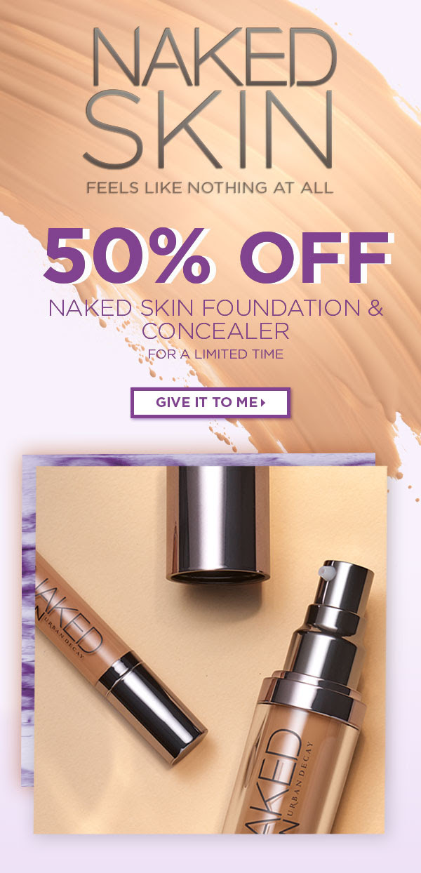 Urban Decay Cosmetics Canada UD Canadian Sale Canadian Deals 2019 50 Percent Off Naked Skin Foundation and Concealer Shades Color Colour Deal Promotion Discount - Glossense