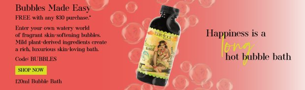 Barefoot Venus Canada Canadian Beauty Offer Promo Code Coupon Codes Free Bubble Bath GWP Gift with Purchase April 2019 - Glossense