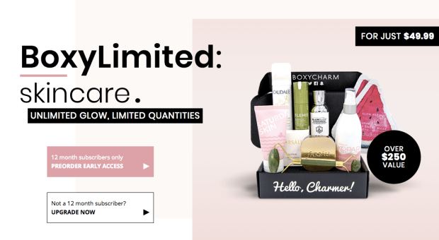 BoxyCharm Canada BoxyLimited Skincare Canadian Limited Edition Beauty Sub Subscription Box April May 2019 Now Available for Pre-Order - Glossense