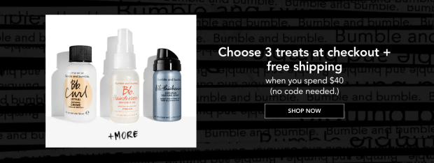 Bumble and Bumble Canada Canadian Deals Freebies GWP Gift with Purchase 3 Free Treats Deluxe Mini Samples Haircare Hair Care - Glossense