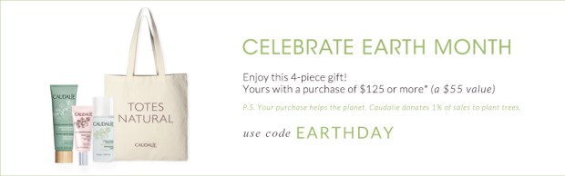 Caudalie Canada Earth Day Canadian Earth Month Promotions GWP Free 4 piece beauty skincare gift set EARTHDAY April 2019 - Glossense
