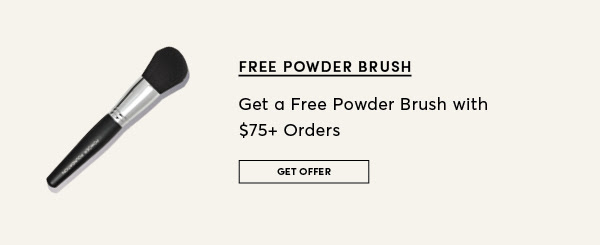 Cover FX Cosmetics Canada Canadian GWP Free Gift with Purchase Free Makeup Powder Brush with 75 Order - Glossense