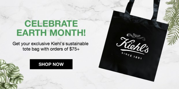 Kiehl's Canada Earth Month Canadian GWP Free Earth Day 2019 Tote Bag Gift with Purchase - Glossense