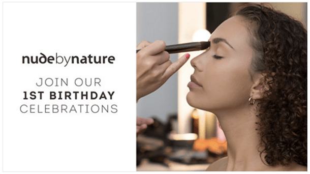 Nude by Nature Canada 1st Canadian Birthday Anniversary Event Free Gifts Gift with Purchase GWP Free Mini Makeovers Test Beauty Products Influencer Meet-up at Shoppers Drug Mart - Glossense
