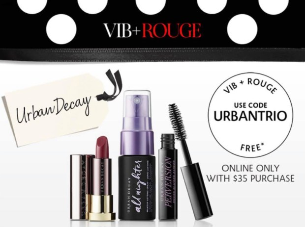 Sephora Canada Beauty Insider Gift April 2019 Rouge VIB Free Canadian Urban Decay Cosmetics Trio Makeup