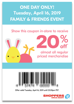 Shoppers Drug Mart Canada SDM Beauty Boutique Family and Friends and Family Event Sale Canadian Coupon Coupons Mobile App In-store Exclusive April 16 2019 - Glossense