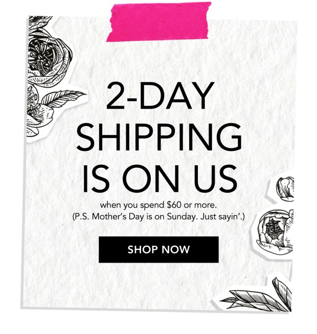 Bumble and Bumble Canada Canadian Mother's Day Promotion Free 2 Day Shipping May 2019 - Glossense