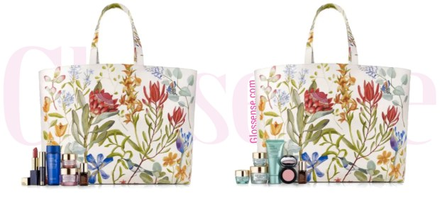 Hudson's Bay HBC The Bay Canada Canadian GWP Beauty Offers Free Estee Lauder Gift with Purchase May 2019 Spring Endless Summer Gift Set Tote - Glossense