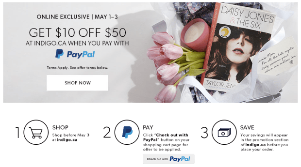 Indigo Chapters Canada Online Exclusive Canadian Shop Beauty PayPal Deal Savings Discount - Glossense