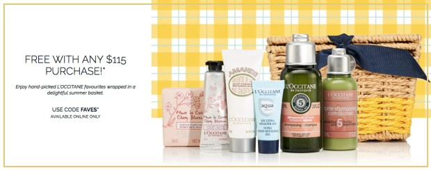L'Occitane en Provence Canada Free May 2019 Gift Rewards Free Summer Kick Off Beach Buddies Collection Beauty Gift Set with Purchase 2019 Canadian May GWP Promo Coupon Code - Glossense