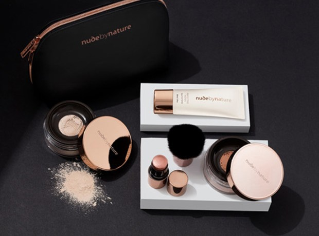 Nude by Nature Canada Mother's Day Canadian Deals Set and Glow 5-pc Complexion Collection Set Make-up Bag May 2019 - Glossense