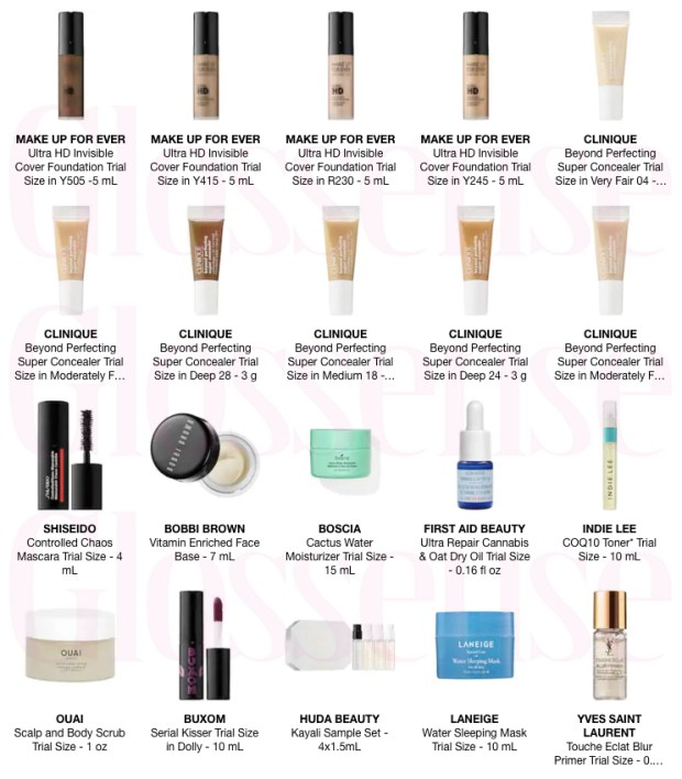 Sephora Canada Canadian Promo Code Coupon Codes PICKYOURS Pick Choose 3 to 5 Mini Deluxe Trial Travel Samples Minis Beauty Offer GWP Summer May 2019 - Glossense