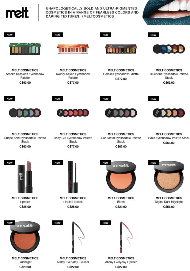 Sephora Canada New Canadian Brand Launch Melt Cosmetics Makeup May 17 2019 New Release Beauty Products - Glossense