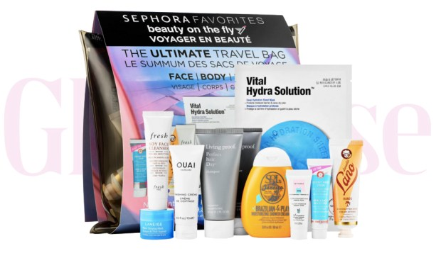 Sephora Canada New Canadian Favorites Favourites Set Beauty On The Fly The Ultimate Travel Bag Kit for Face Body and Hair - Glossense