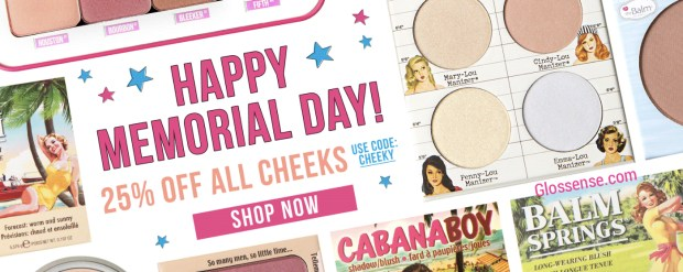 TheBalm The Balm Cosmetics Canada Memorial Day Sale Save on Cheek Blush Products Bronzer Highlighter 2019 Canadian Deals Promo Code - Glossense
