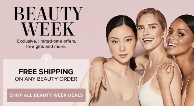 Hudson's Bay Canada The Bay HBC Beauty Week Up to 50 Percent Off Beauty FREE Shipping on ANY Beauty Order Free Gifts and More Summer 2019 Canadian Deals Sale - Glossense