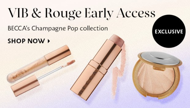 Sephora Canada Becca Cosmetics Champagne Pop Limited Collector's Edition Collection Launches June 6 2019 VIB  Rouge Exclusive Early Access - Glossense