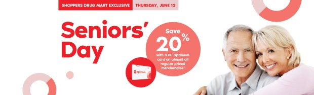Shoppers Drug Mart Canada SDM Beauty Boutique Seniors Bonus Day June 13 2019 PC Optimum Card Bonus Save Canadian Sale Earn PC Optimum Points - Glossense