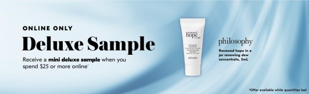 Shoppers Drug Mart SDM Beauty Boutique Canada 2019 Canadian Freebies Deals GWP Free Philosophy Renewed Hope in a Jar Moisturizer Mini Deluxe Sample - Glossense