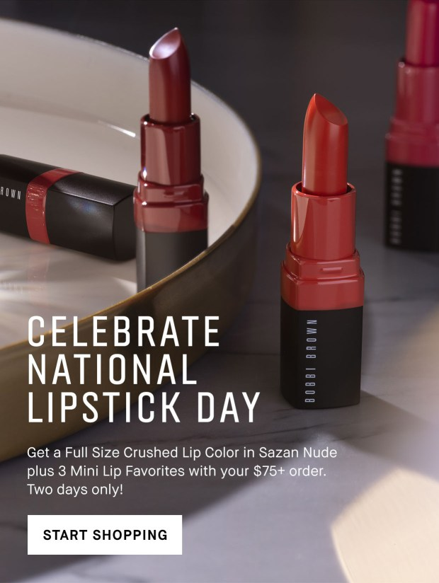 Bobbi Brown Cosmetics Canada Free Full Size Lipstick Mini Lip Trio with Purchase 2019 National Lipstick Day Canadian Deals GWP Offer Promo Coupons Code July 2019 - Glossense