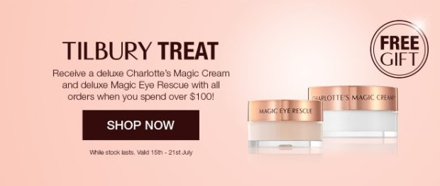 Charlotte Tilbury Canada Free GWP Gift with Purchase Charlotte's Magic Cream Deluxe Samples Gift Gifts July 2019 - Glossense