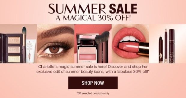 Charlotte Tilbury Canada Magic Summer Sale 30 Percent Off July 2019 Savings Discount Canadian Deals - Glossense