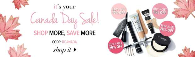 IT Cosmetics Canada Day Sale July 1 2019 Shop More Save More Promo Code Canadian Deals Coupons Beauty - Glossense