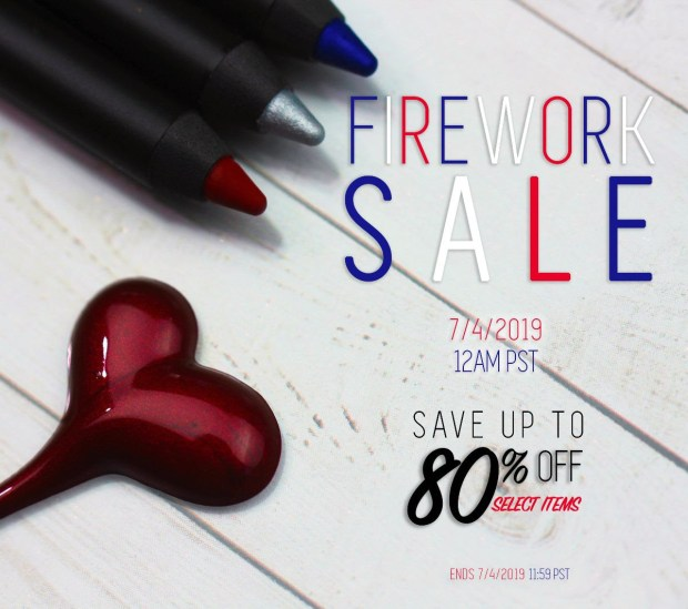 Melt Cosmetics Canada 4th of July Firework Sale Canadian Deals Savings Event July 4 2019 - Glossense
