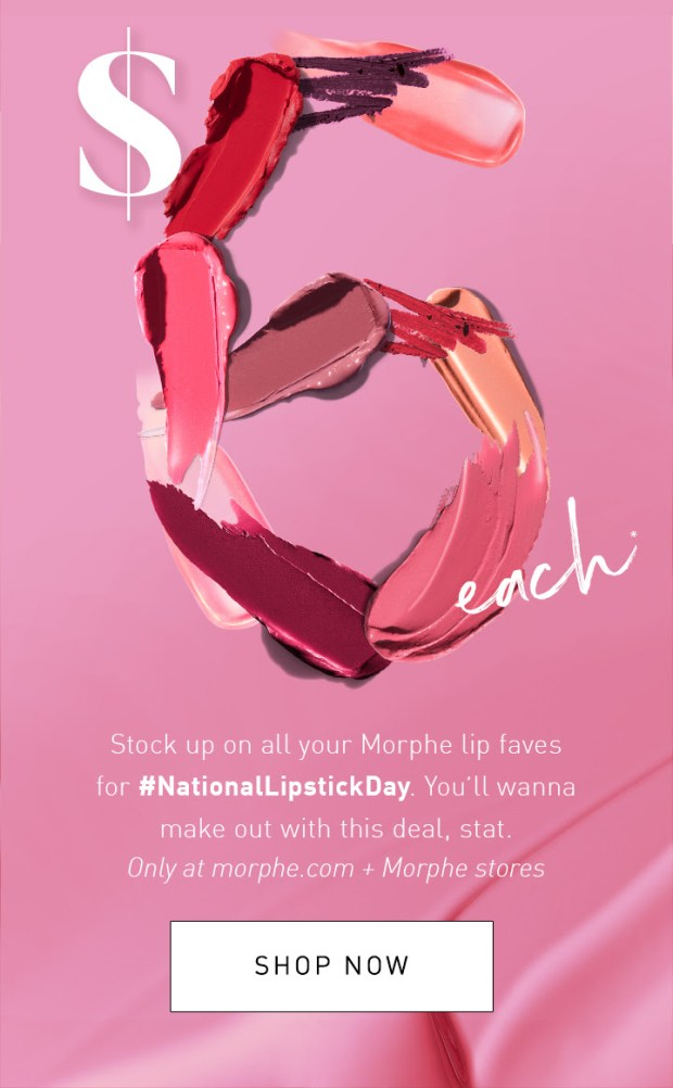 Morphe Makeup Canada 2019 National Lipstick Day Canadian Deals Sale July 2019 - Glossense
