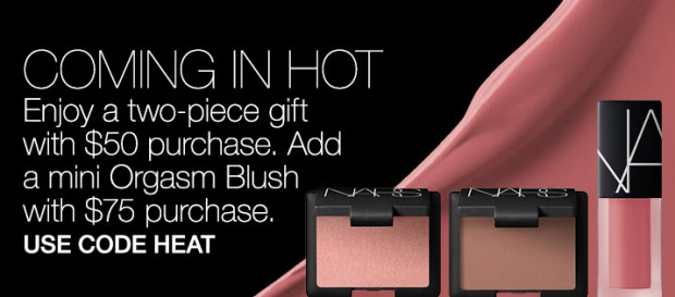 Nars Cosmetics Canada HEAT Promo Code Free Gift Gifts with Purchase Canadian GWP Beauty Offers July 2019 - Glossense