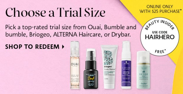 Sephora Canada Canadian Beauty Offers Promo Code Coupon Codes Free Hair Care Mini Deluxe Samples Briogeo Alterna Ouai Bumble and Bumble Drybar - Glossense