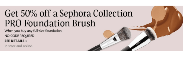 Sephora Canada Canadian Beauty Makeup Deals Shop Foundations Foundation Get Half Off Sephora Collection PRO Brush Makeup Brushes - Glossense