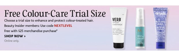 Sephora Canada Canadian Beauty Offers Promo Code Coupon Codes Free Hair Care Free Mini Deluxe Samples Amika Verb Morrocanoil - Glossense