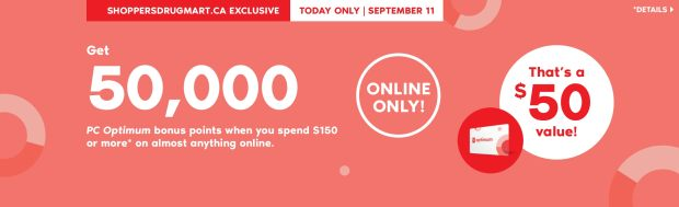 Shoppers Drug Mart Canada Beauty Boutique Canadian SDM Exclusive PC Optimum Loyalty Rewards Program PC Optimum Bonus Points Promotion Event Shop Luxury Beauty September 11 2019 - Glossense