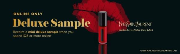 Shoppers Drug Mart SDM Beauty Boutique Canada September 2019 Canadian Freebies Deals GWP Free Yves Saint Laurent YSL Lip Stain Makeup Mini Deluxe Sample - Glossense