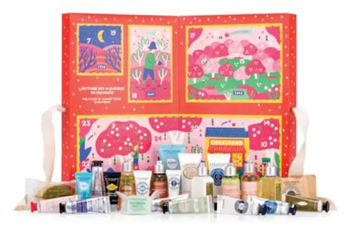Hudson's Bay Canada The Bay HBC L'Occitane A Tale from Provence 2019 Canadian Christmas Holiday Advent Calendar Unboxing - Glossense