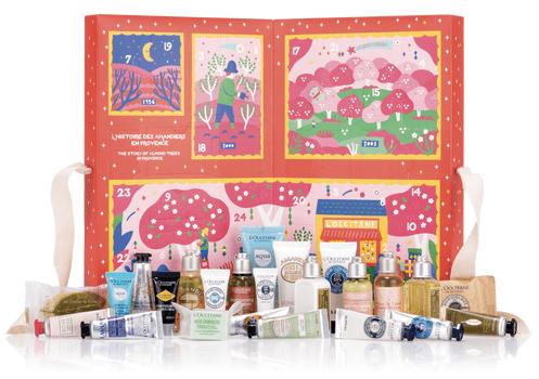 L'Occitane Canada 2019 2020 Signature Holiday Advent Calendar Canadian Classic Calendars Christmas Skincare Beauty Fragrance Unboxing - Glossense