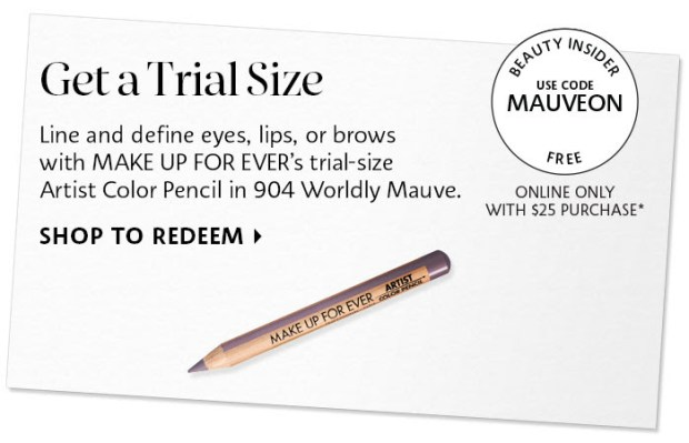 Sephora Canada Canadian Coupon Code Promo Codes Beauty Offer Free Make Up For Ever Mauve MAUVEON Mini Deluxe Trial Makeup Sample GWP Gift with Purchase - Glossense