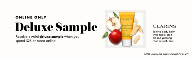 Shoppers Drug Mart SDM Beauty Boutique Canada 2019 Canadian Freebies Deals GWP Free Clarins Toning Body Balm Skincare Mini Deluxe Sample - Glossense