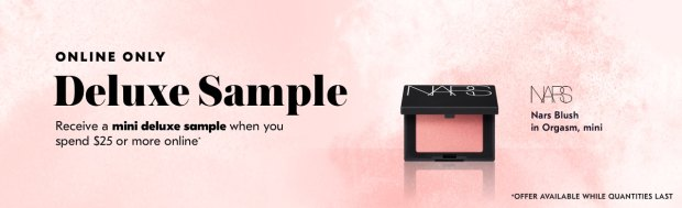 Shoppers Drug Mart SDM Beauty Boutique Canada 2019 Canadian Freebies Deals GWP Free Nars Orgasm Blush Mini Deluxe Sample - Glossense