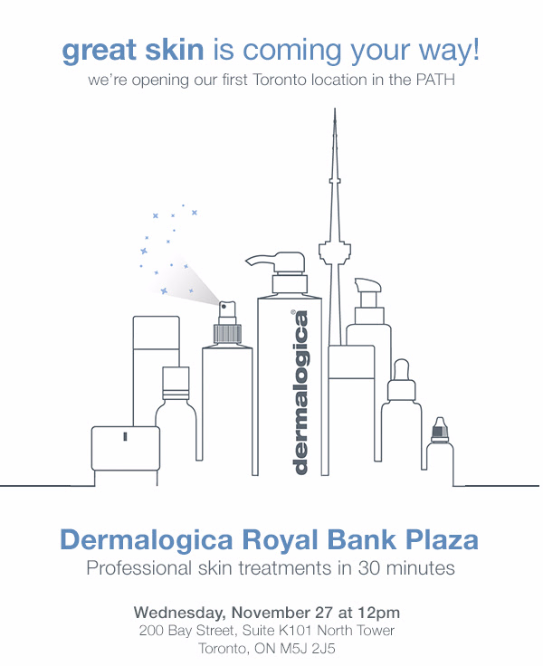 Dermalogica Canada Toronto Ontario Canadian Grand Opening and Offers Free GWP Skin Treatments - Glossense